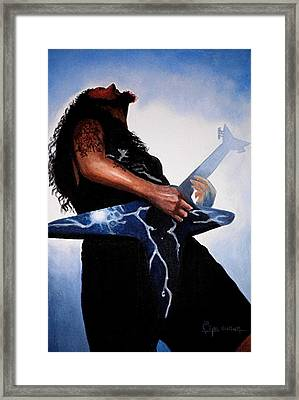 Dimebag Is Gd Electric Framed Print by Al  Molina