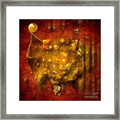 Dimension Hole Framed Print