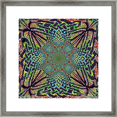 Framed Print featuring the painting Dimensional Celtic Cross by Hidden Mountain