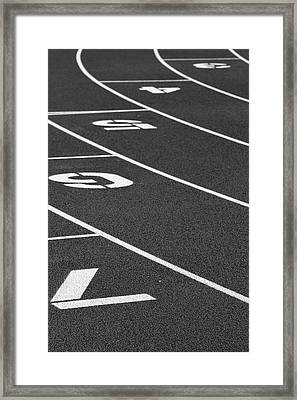 Dimensional Curve Framed Print by Laddie Halupa