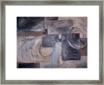 Dimensional Disarray Commissioned Sold Framed Print by Amanda  Sanford