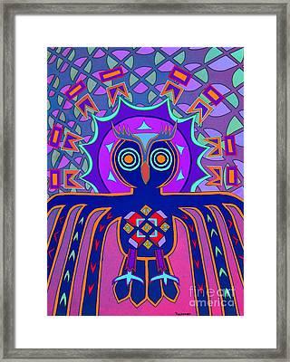 Dimensional Owl Framed Print by Ed Tajchman