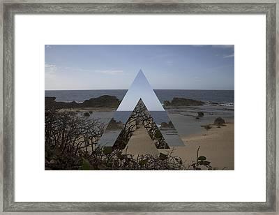 Dimensional Rift. Framed Print by Ismael Marte Ramos