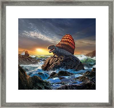 Dimetrodon Framed Print by Jerry LoFaro