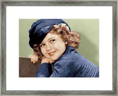 Dimples, Shirley Temple, 1936 Framed Print