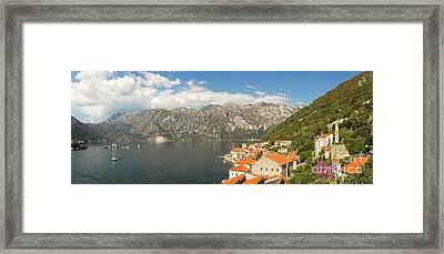 Dinaric Alps And Kotor Bay Framed Print by Matt Tilghman