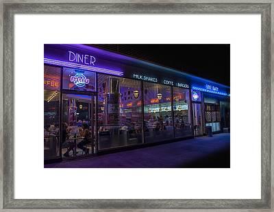 Diner - Fast Food Framed Print by Hans Wolfgang Muller Leg