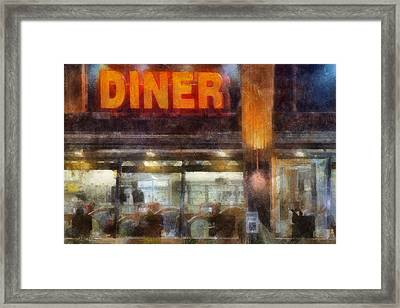 Diner Framed Print by Francesa Miller