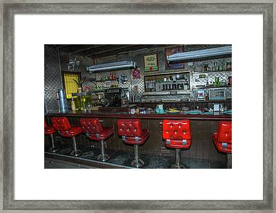 Diner Interior Framed Print