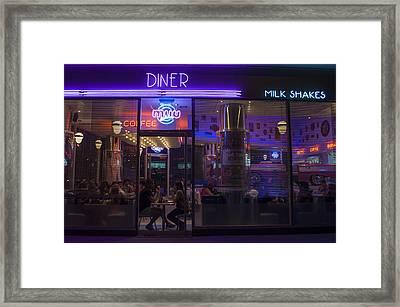 Diner - Milk Shake Framed Print by Hans Wolfgang Muller Leg
