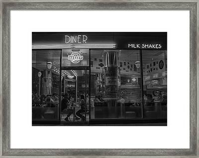 Diner Place Framed Print by Hans Wolfgang Muller Leg