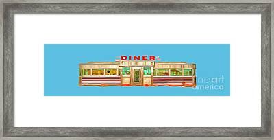 Diner Tee Framed Print by Edward Fielding