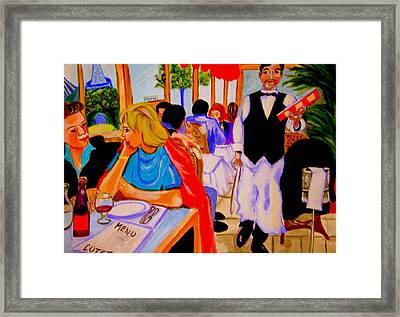 Diners At La Lutetia Framed Print by Rusty Woodward Gladdish