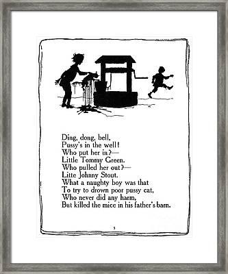 Ding, Dong, Bell Framed Print by Granger