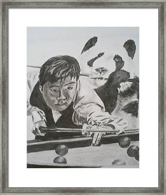 Ding Junhui Snooker Framed Print by James Dolan