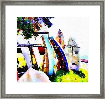 Dinghies At Devonport Framed Print