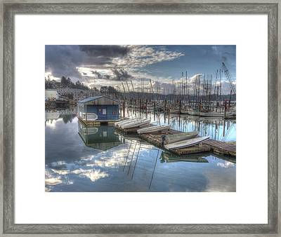 Dinghies For Rent Framed Print