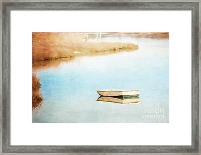 Dinghy In Eastham Framed Print
