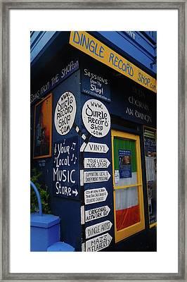 Dingle Record Shop Framed Print by Melinda Saminski