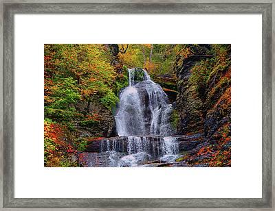 Dingmans Falls In Autumn 2 Framed Print by Raymond Salani III