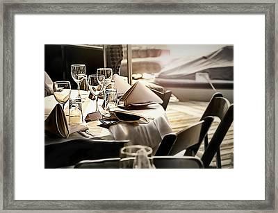 Dining Alfresco Framed Print
