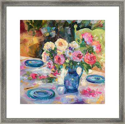 Dining Alfresco Framed Print