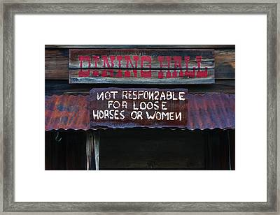 Dining Hall Framed Print by Art Block Collections