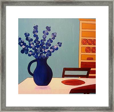 Dining In Framed Print by Edmund Akers