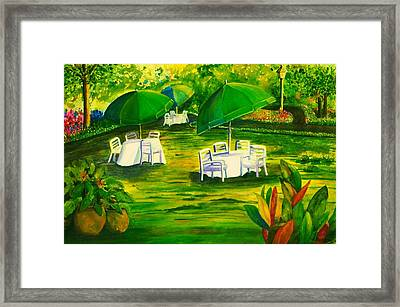 Dining In The Park Framed Print