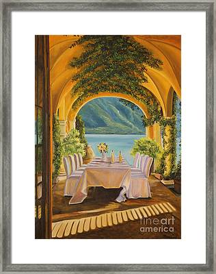 Dining On Lake Como Framed Print