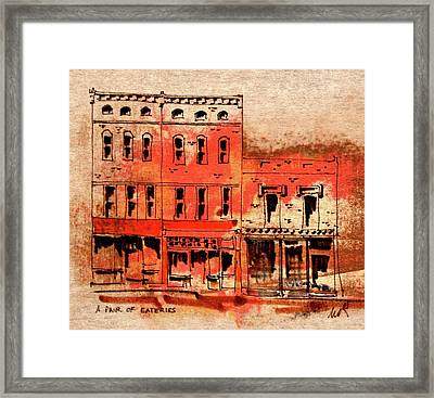 Dining On Market Square Framed Print by William Renzulli