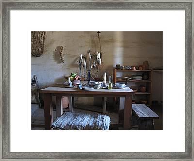 Dining Quarters Framed Print by Nancy Ingersoll