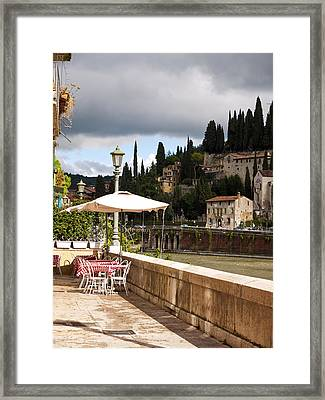 Dining With A View Framed Print by Rae Tucker
