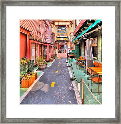 Framed Print featuring the photograph Dink's Taxi Bar Harbor by Debbie Stahre