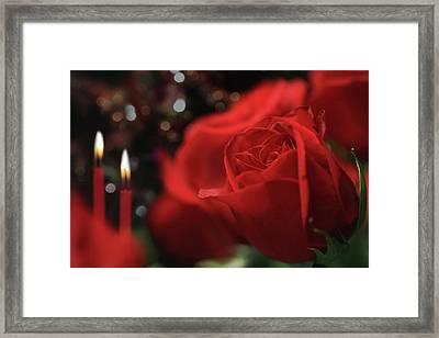 Dinner And Roses Framed Print