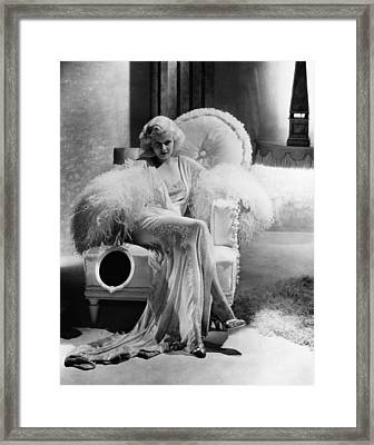 Dinner At Eight, Jean Harlow Framed Print