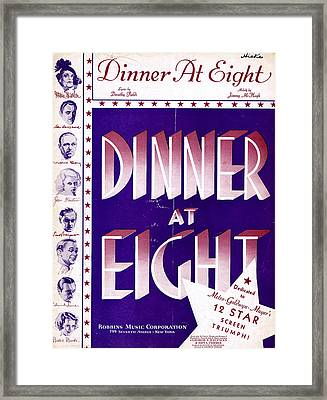 Dinner At Eight Framed Print