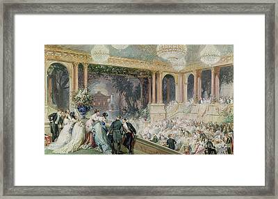 Dinner At The Tuileries Framed Print