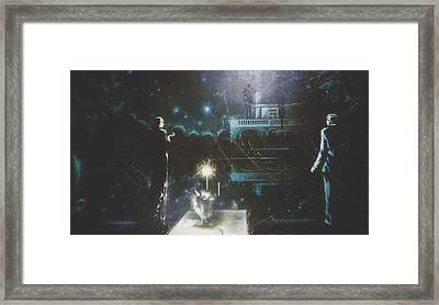 Dinner By Candlelight Framed Print by Andrej Vystropov