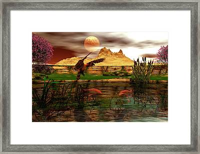 Dinner Framed Print by Claude McCoy