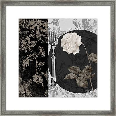 Dinner Conversation I Framed Print by Mindy Sommers