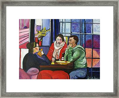 Framed Print featuring the painting Dinner In Dam by Patricia Arroyo