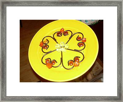 Dinner Plate Flowers Framed Print by Diane Morizio