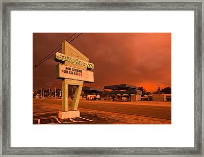 Dinner Sign At The Roadside, The Framed Print