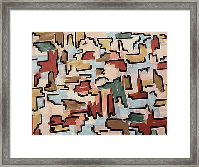 Dino Pattern Framed Print