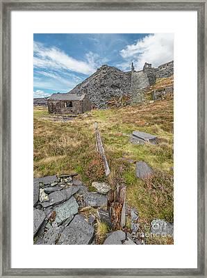 Dinorwic Quarry Ruins Framed Print by Adrian Evans