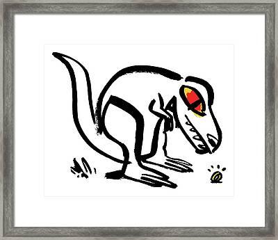 Dinosaur Looking At Shining Ring  Framed Print by Nishant Choksi