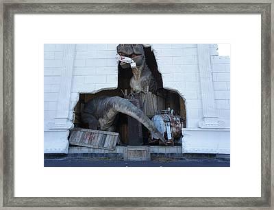 Dinosaur Returns Framed Print