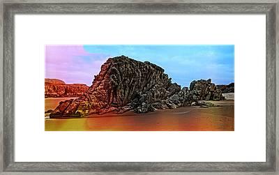Dinosaur Rock Framed Print by Thom Zehrfeld