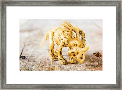 Dinosaurs At The Toy Museum  Framed Print